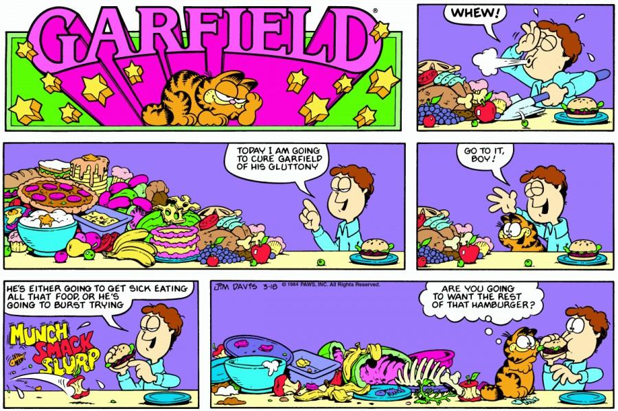 Оригинал комикса про Гарфилда от 18 марта 1984 года