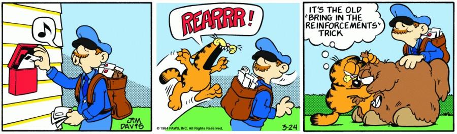 Оригинал комикса про Гарфилда от 24 марта 1984 года