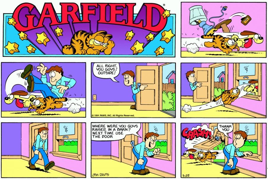 Оригинал комикса про Гарфилда от 25 марта 1984 года