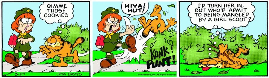 Оригинал комикса про Гарфилда от 27 марта 1984 года