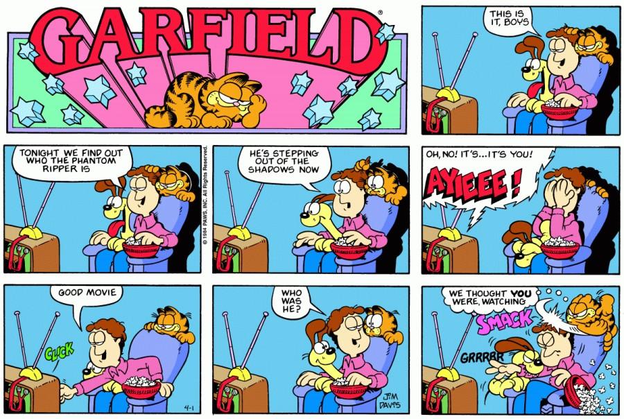 Оригинал комикса про Гарфилда от 01 апреля 1984 года