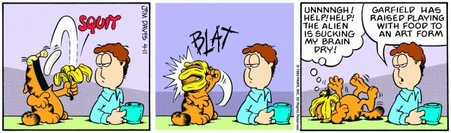 Оригинал комикса про Гарфилда от 11 апреля 1984 года