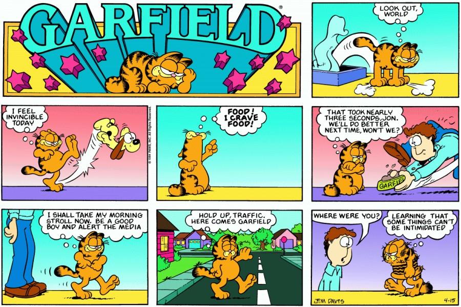 Оригинал комикса про Гарфилда от 15 апреля 1984 года