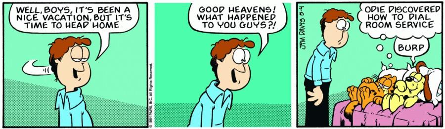Оригинал комикса про Гарфилда от 04 мая 1984 года