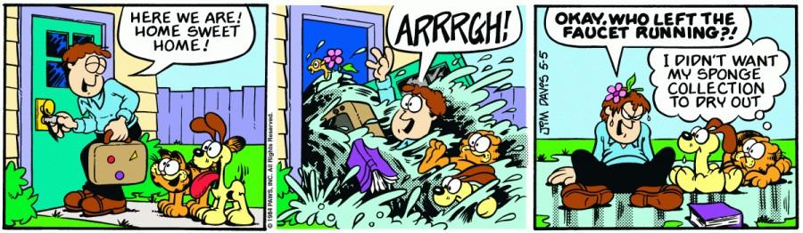Оригинал комикса про Гарфилда от 05 мая 1984 года