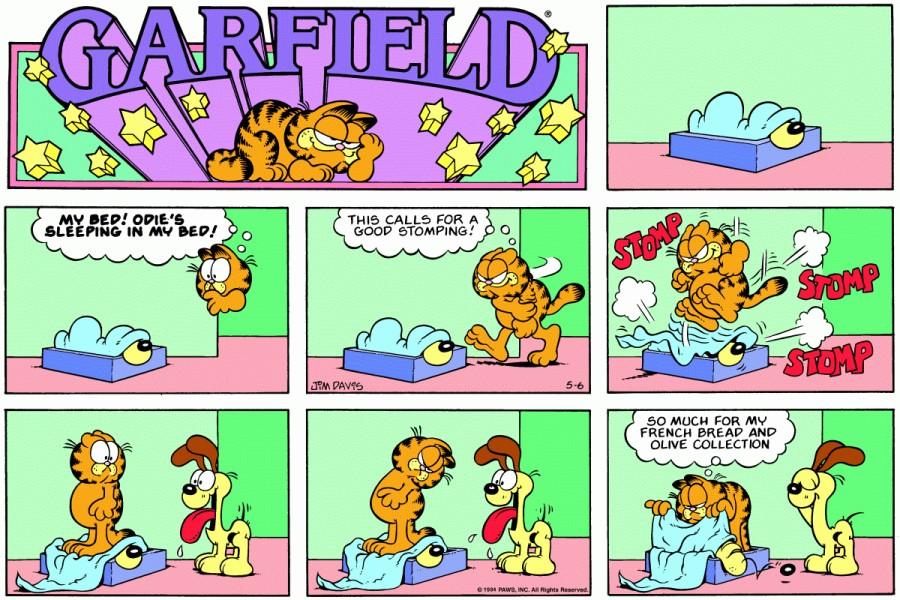 Оригинал комикса про Гарфилда от 06 мая 1984 года
