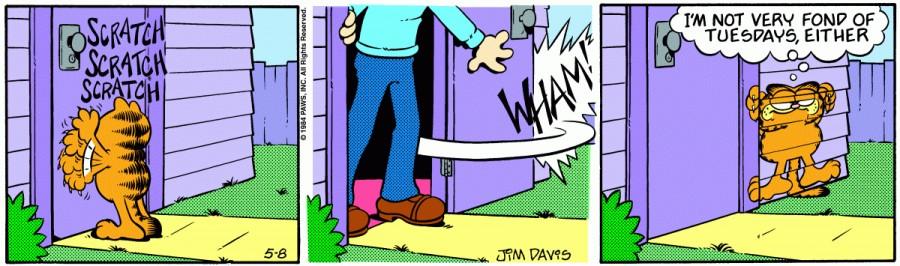Оригинал комикса про Гарфилда от 08 мая 1984 года