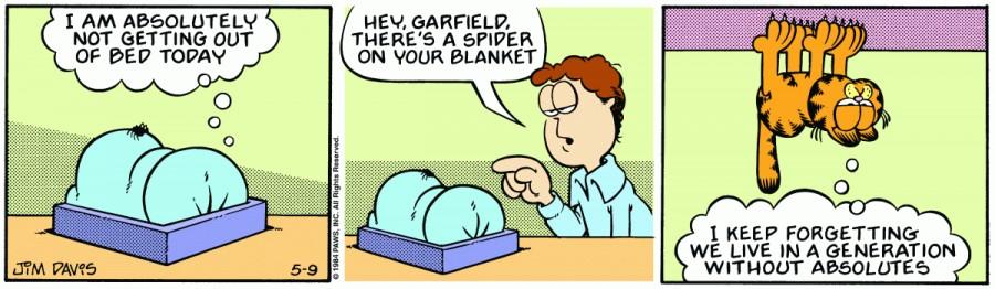 Оригинал комикса про Гарфилда от 09 мая 1984 года