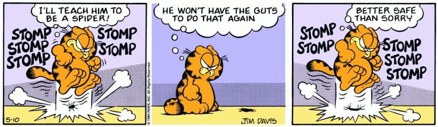 Оригинал комикса про Гарфилда от 10 мая 1984 года