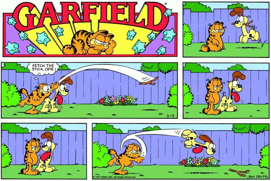 Оригинал комикса про Гарфилда от 13 мая 1984 года