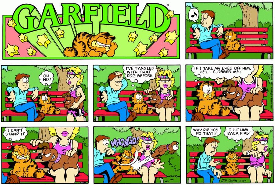 Оригинал комикса про Гарфилда от 27 мая 1984 года