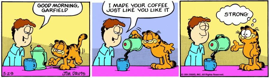 Оригинал комикса про Гарфилда от 29 мая 1984 года