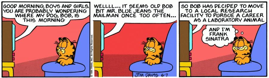 Оригинал комикса про Гарфилда от 07 июня 1984 года