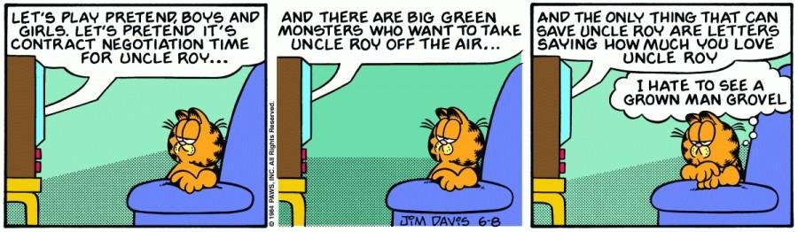 Оригинал комикса про Гарфилда от 08 июня 1984 года