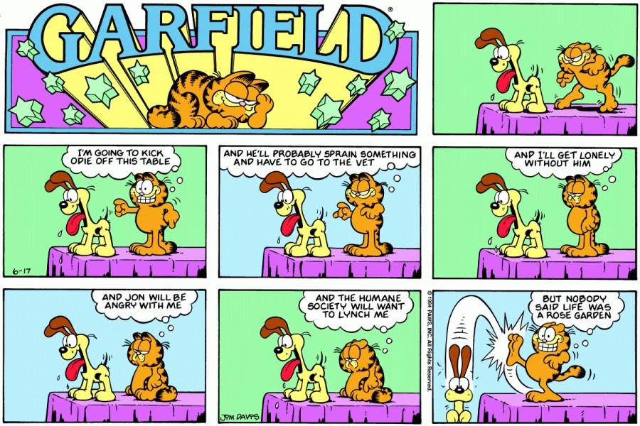 Оригинал комикса про Гарфилда от 17 июня 1984 года