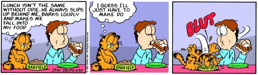 Оригинал комикса про Гарфилда от 30 июня 1984 года