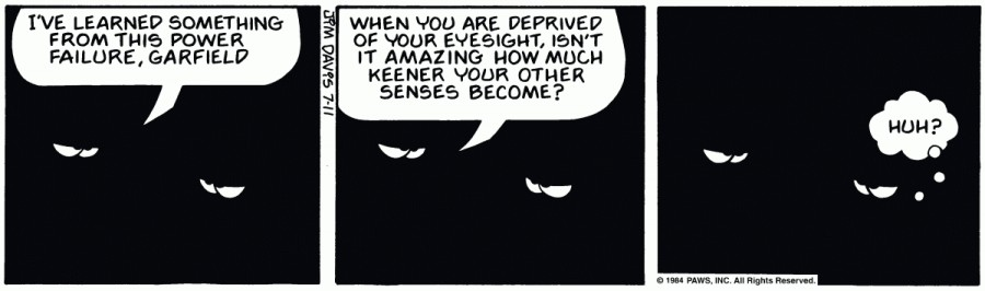 Оригинал комикса про Гарфилда от 11 июля 1984 года