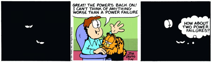 Оригинал комикса про Гарфилда от 14 июля 1984 года