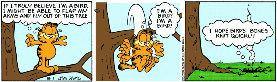 Оригинал комикса про Гарфилда от 11 августа 1984 года