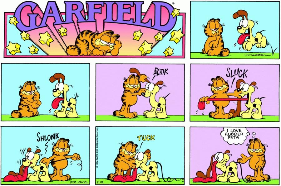 Оригинал комикса про Гарфилда от 19 августа 1984 года