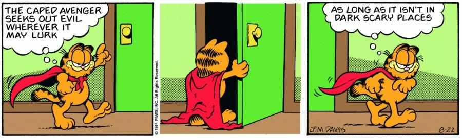 Оригинал комикса про Гарфилда от 22 августа 1984 года