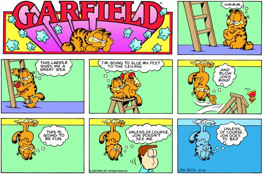 Оригинал комикса про Гарфилда от 26 августа 1984 года