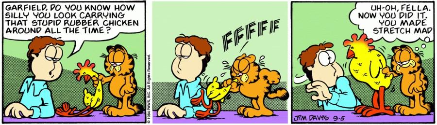 Оригинал комикса про Гарфилда от 05 сентября 1984 года