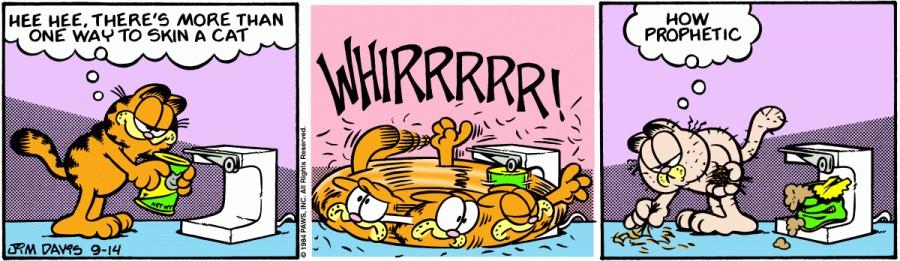 Оригинал комикса про Гарфилда от 14 сентября 1984 года