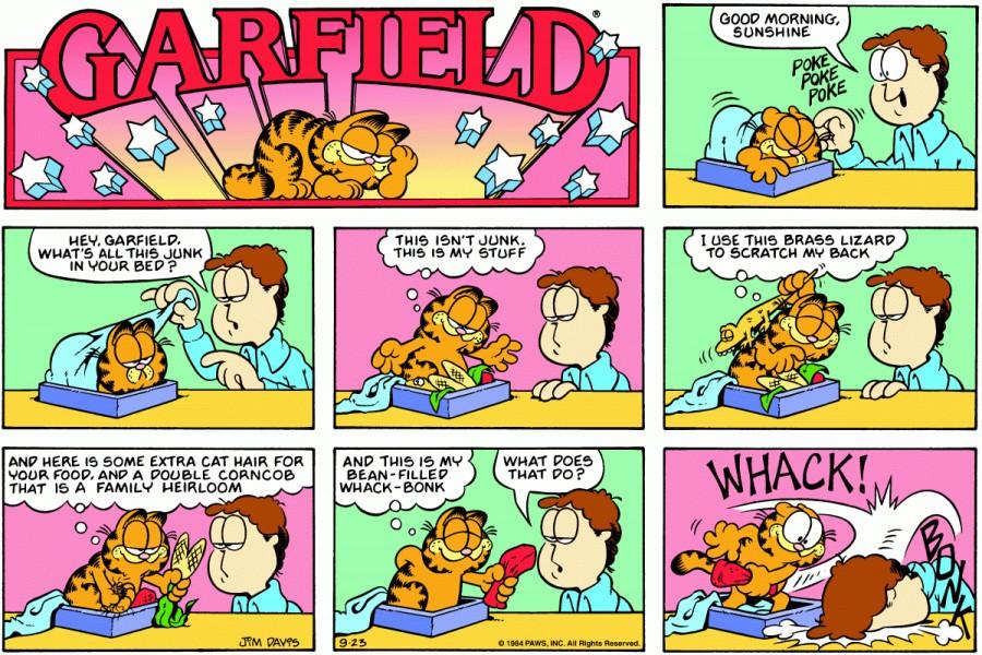Оригинал комикса про Гарфилда от 23 сентября 1984 года