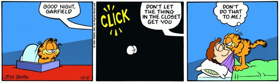Оригинал комикса про Гарфилда от 05 октября 1984 года