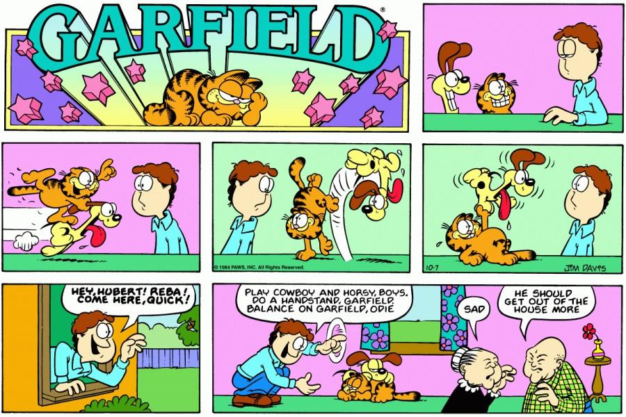 Оригинал комикса про Гарфилда от 07 октября 1984 года