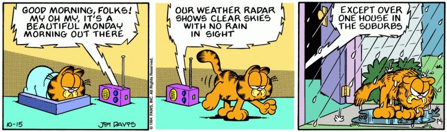 Оригинал комикса про Гарфилда от 15 октября 1984 года