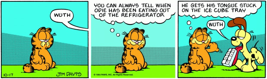 Оригинал комикса про Гарфилда от 17 октября 1984 года