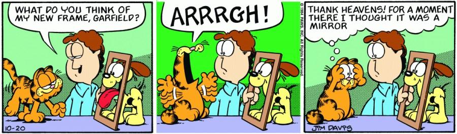 Оригинал комикса про Гарфилда от 20 октября 1984 года