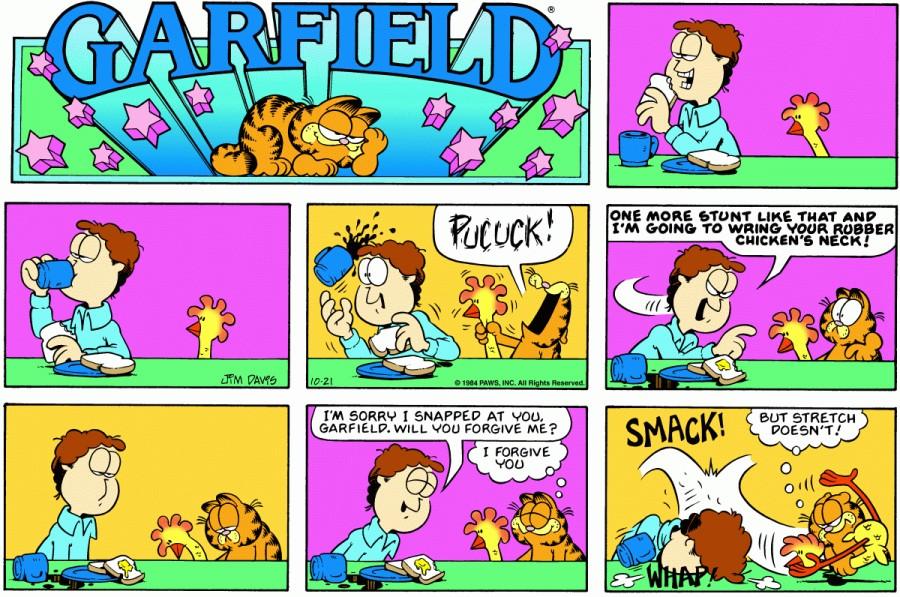 Оригинал комикса про Гарфилда от 21 октября 1984 года