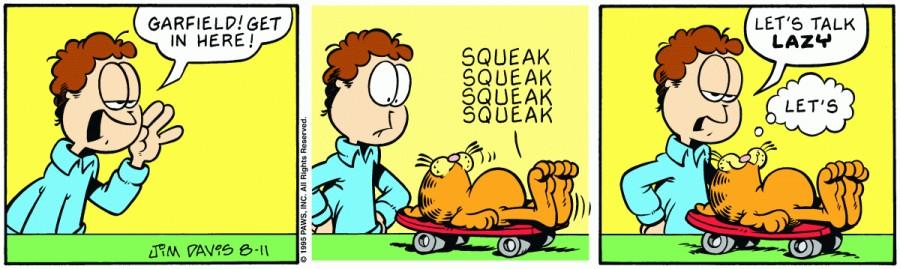 Оригинал комикса про Гарфилда от 11 августа 1995 года