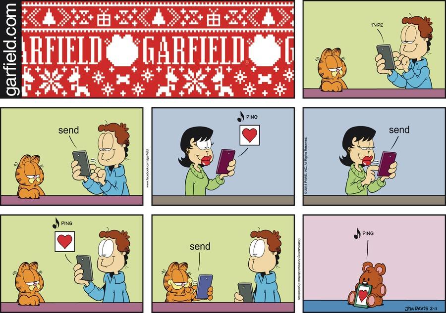 Оригинал комикса про Гарфилда от 11 февраля 2018 года