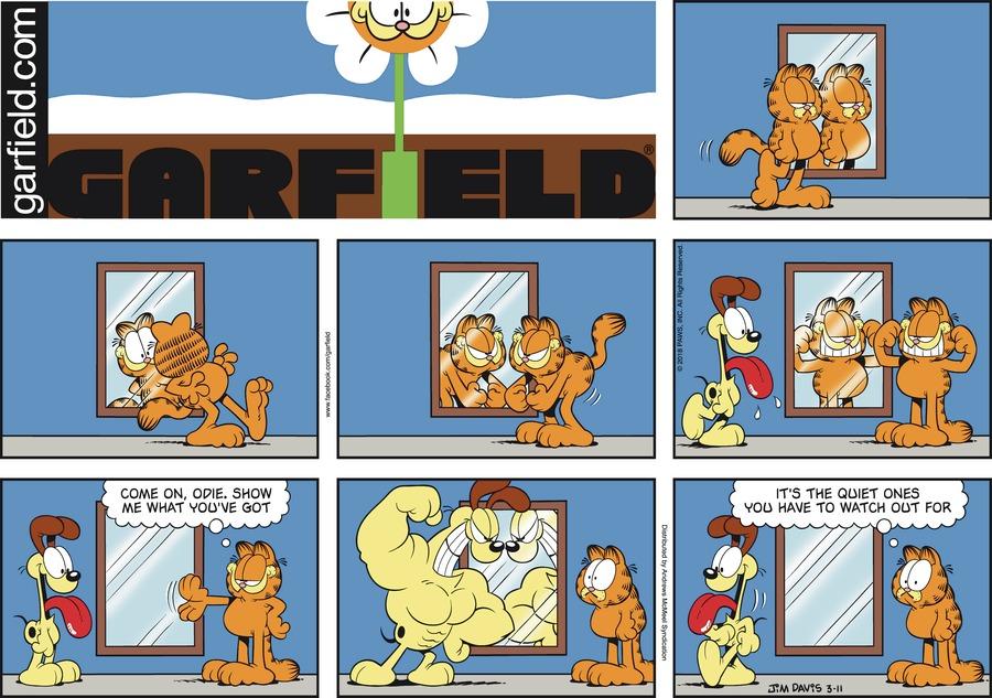Оригинал комикса про Гарфилда от 11 марта 2018 года