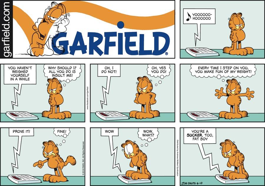 Оригинал комикса про Гарфилда от 10 июня 2018 года