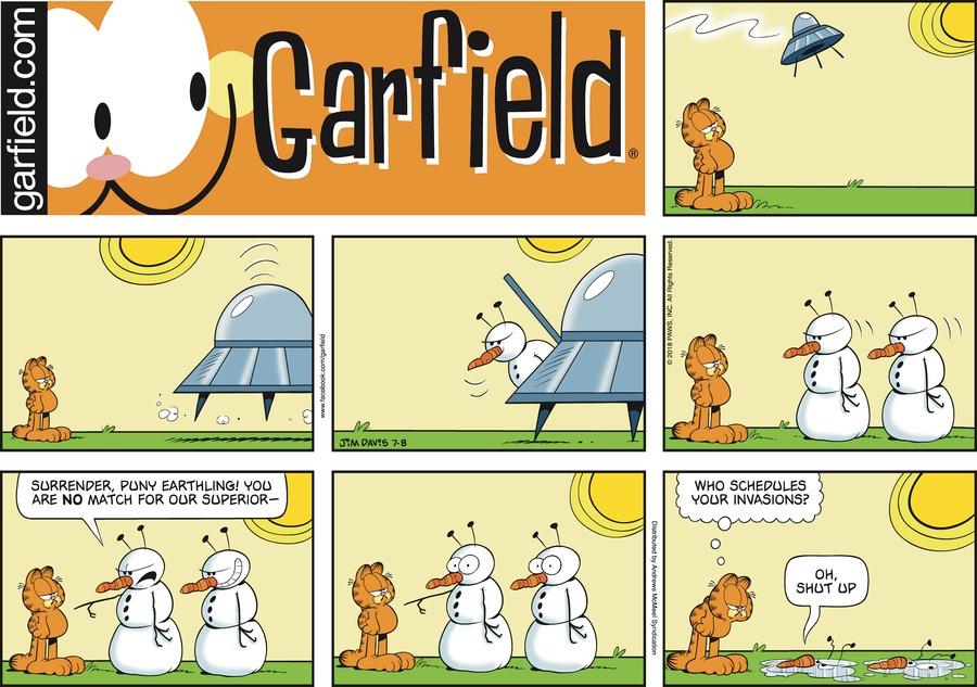 Оригинал комикса про Гарфилда от 08 июля 2018 года